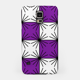 Abstract geometric pattern - purple, black and white. Samsung Case thumbnail image