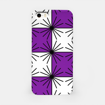 Abstract geometric pattern - purple, black and white. iPhone Case thumbnail image