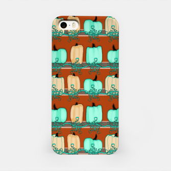 Thumbnail image of Blue Green Pumpkins iPhone Case, Live Heroes