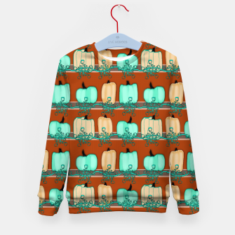 Thumbnail image of Blue Green Pumpkins Kid's sweater, Live Heroes