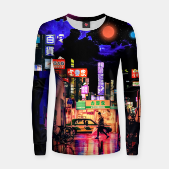 Miniaturka Neon city lights Women sweater, Live Heroes