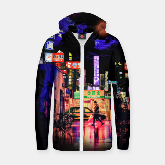 Miniaturka Neon city lights Zip up hoodie, Live Heroes