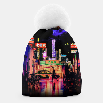 Miniaturka Neon city lights Beanie, Live Heroes