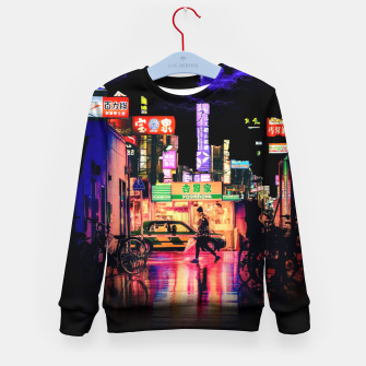 Miniaturka Neon city lights Kid's sweater, Live Heroes