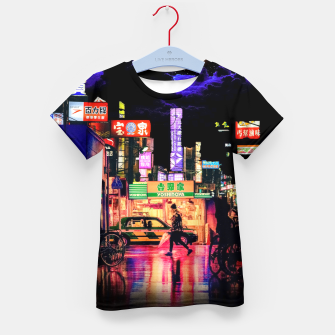 Miniaturka Neon city lights Kid's t-shirt, Live Heroes
