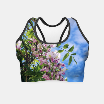 Thumbnail image of wisteria / glicynia Crop Top, Live Heroes