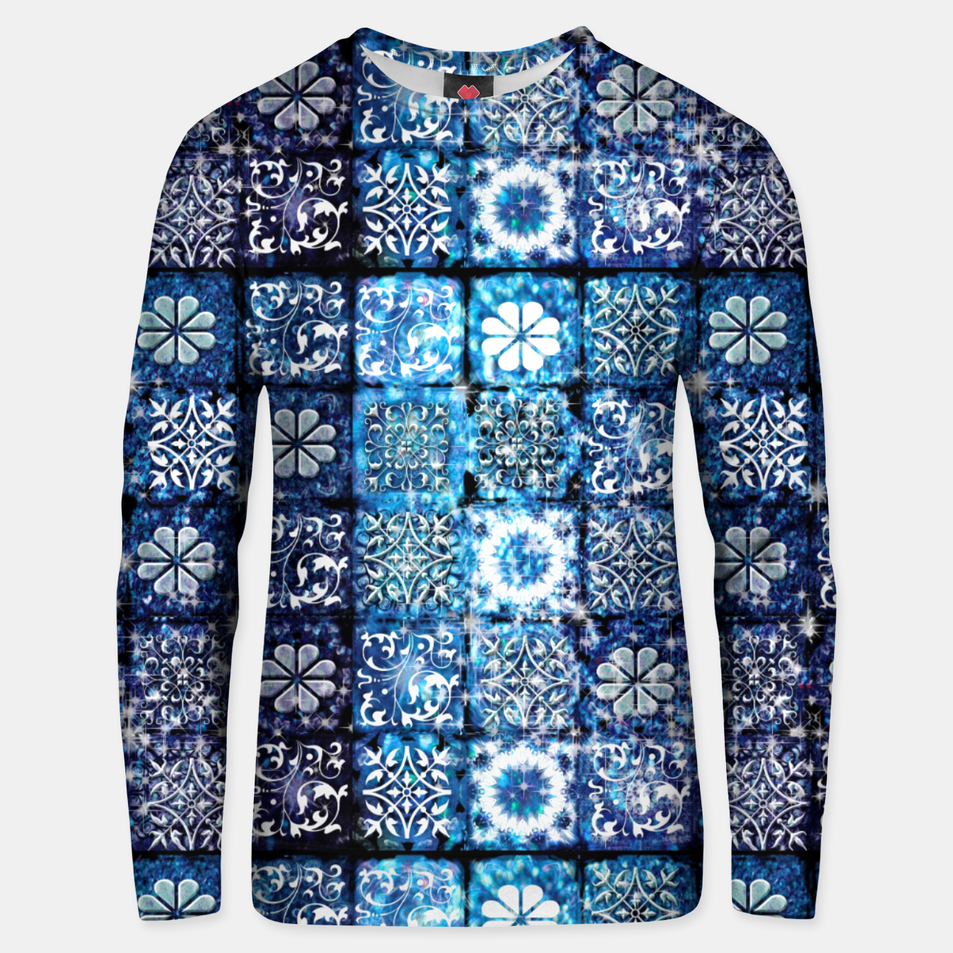 Image of Blue Ice Crystals Unisex sweater - Live Heroes