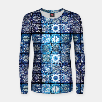 Thumbnail image of Blue Ice Crystals Women sweater, Live Heroes