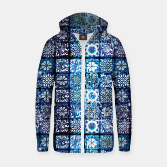 Thumbnail image of Blue Ice Crystals Zip up hoodie, Live Heroes