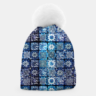 Thumbnail image of Blue Ice Crystals Beanie, Live Heroes