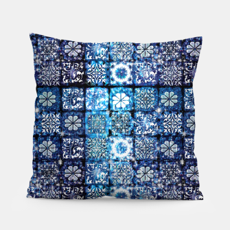 Thumbnail image of Blue Ice Crystals Pillow, Live Heroes