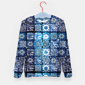 Thumbnail image of Blue Ice Crystals Kid's sweater, Live Heroes