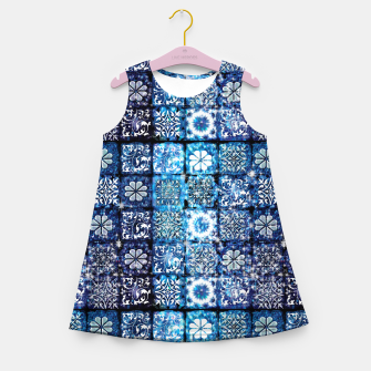 Thumbnail image of Blue Ice Crystals Girl's summer dress, Live Heroes