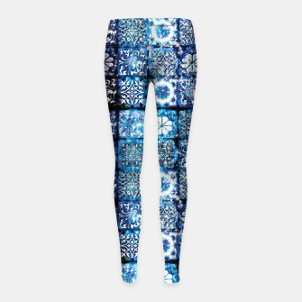 Thumbnail image of Blue Ice Crystals Girl's leggings, Live Heroes