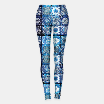 Thumbnail image of Blue Ice Crystals Leggings, Live Heroes