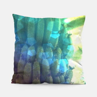 Thumbnail image of Bokeh Light Bananas Pillow, Live Heroes