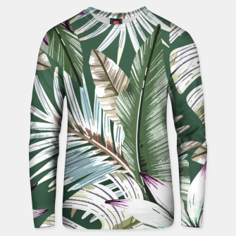 Leaves tropical summer Sudadera unisex miniature