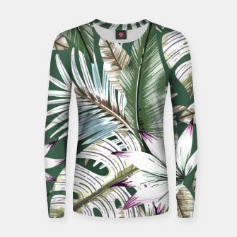 Leaves tropical summer Sudadera para mujeres miniature