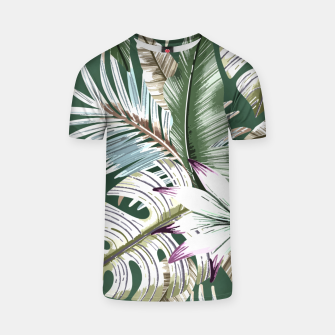 Leaves tropical summer Camiseta thumbnail image