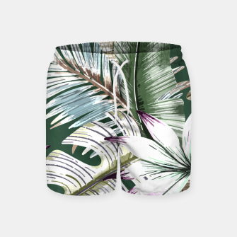 Leaves tropical summer Pantalones de baño miniature
