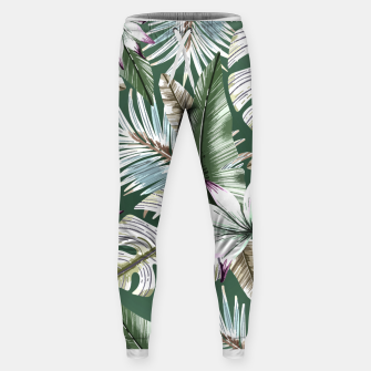 Leaves tropical summer Pantalones de chándal  miniature