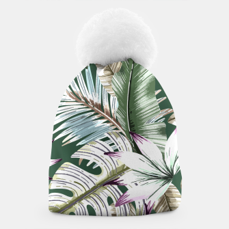Leaves tropical summer Gorro miniature