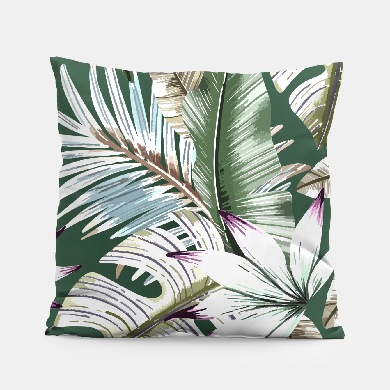 Image of Leaves tropical summer Almohada - Live Heroes