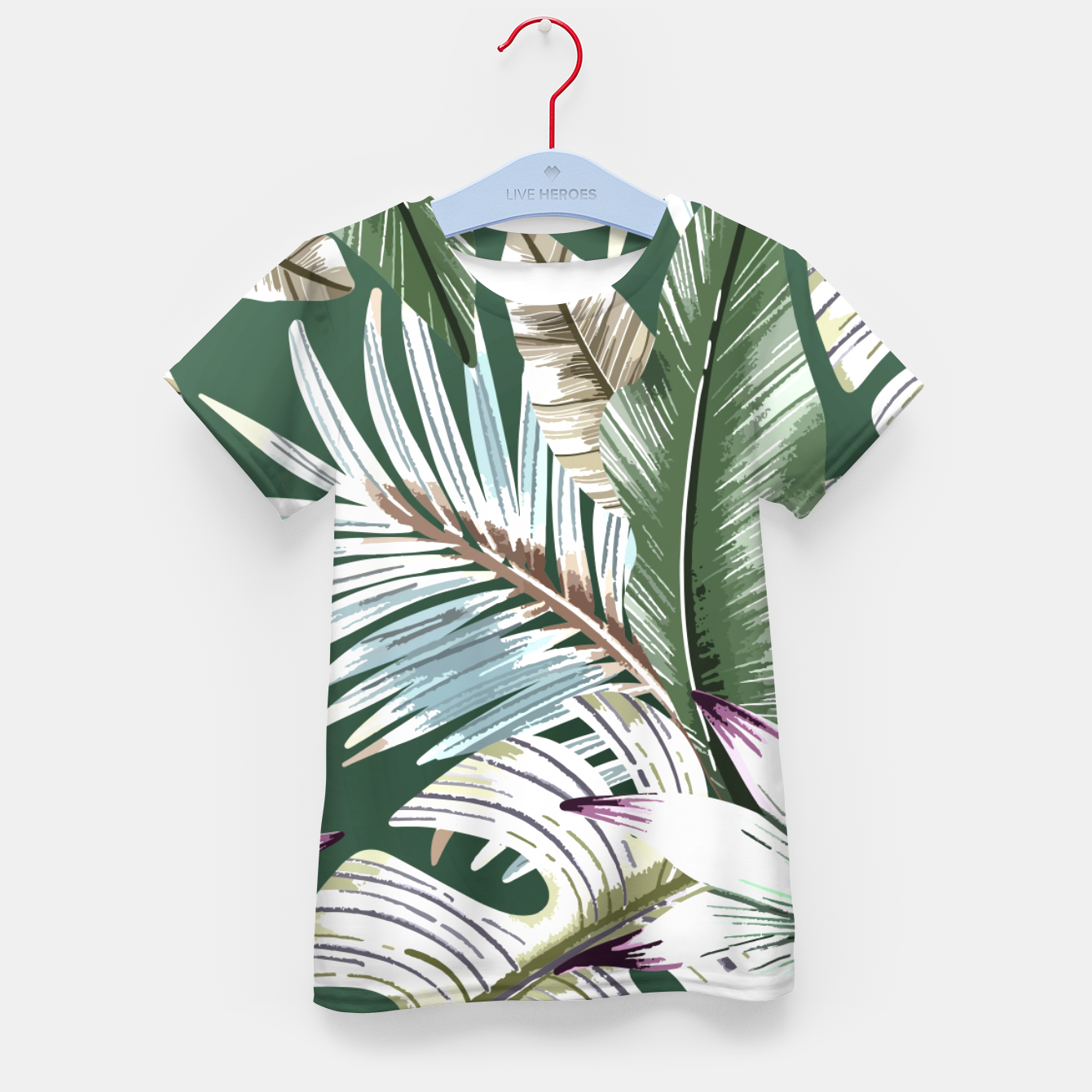Image de Leaves tropical summer Camiseta para niños - Live Heroes
