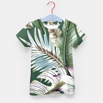 Miniatur Leaves tropical summer Camiseta para niños, Live Heroes
