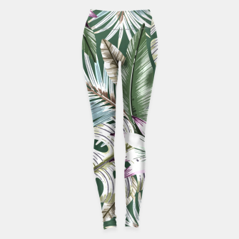 Leaves tropical summer Leggings miniature