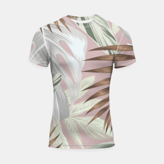 Thumbnail image of Tropical nice summer 8 Shortsleeve rashguard, Live Heroes