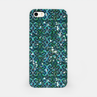 Thumbnail image of Blue Ice Sparkle Swirls iPhone Case, Live Heroes