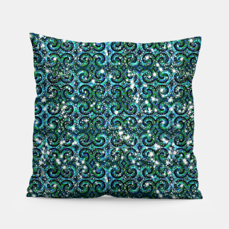 Thumbnail image of Blue Ice Sparkle Swirls Pillow, Live Heroes