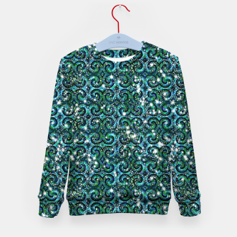 Thumbnail image of Blue Ice Sparkle Swirls Kid's sweater, Live Heroes
