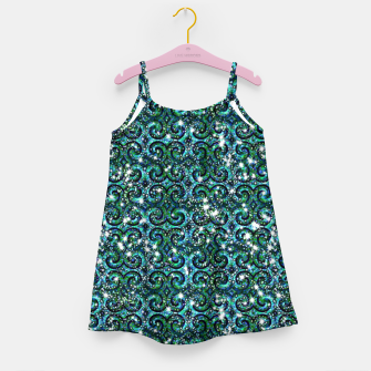 Thumbnail image of Blue Ice Sparkle Swirls Girl's dress, Live Heroes