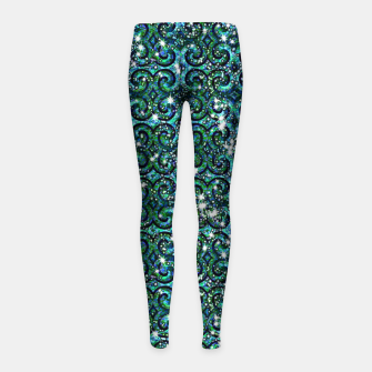 Thumbnail image of Blue Ice Sparkle Swirls Girl's leggings, Live Heroes