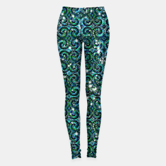 Thumbnail image of Blue Ice Sparkle Swirls Leggings, Live Heroes