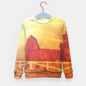 Thumbnail image of Barn Painting Kid's sweater, Live Heroes