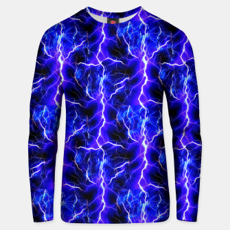 Thumbnail image of Blue Lightning Pattern Unisex sweater, Live Heroes