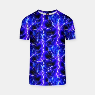 Thumbnail image of Blue Lightning Pattern T-shirt, Live Heroes
