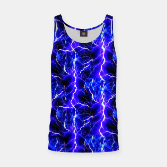 Thumbnail image of Blue Lightning Pattern Tank Top, Live Heroes