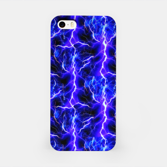 Thumbnail image of Blue Lightning Pattern iPhone Case, Live Heroes