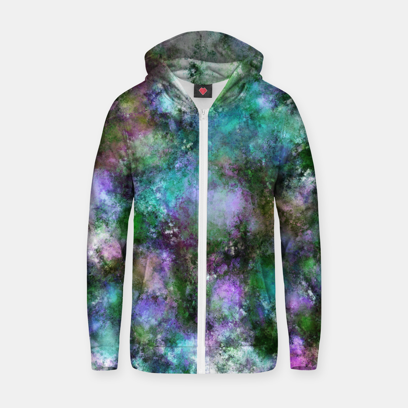 Image of A fluid situation Zip up hoodie - Live Heroes