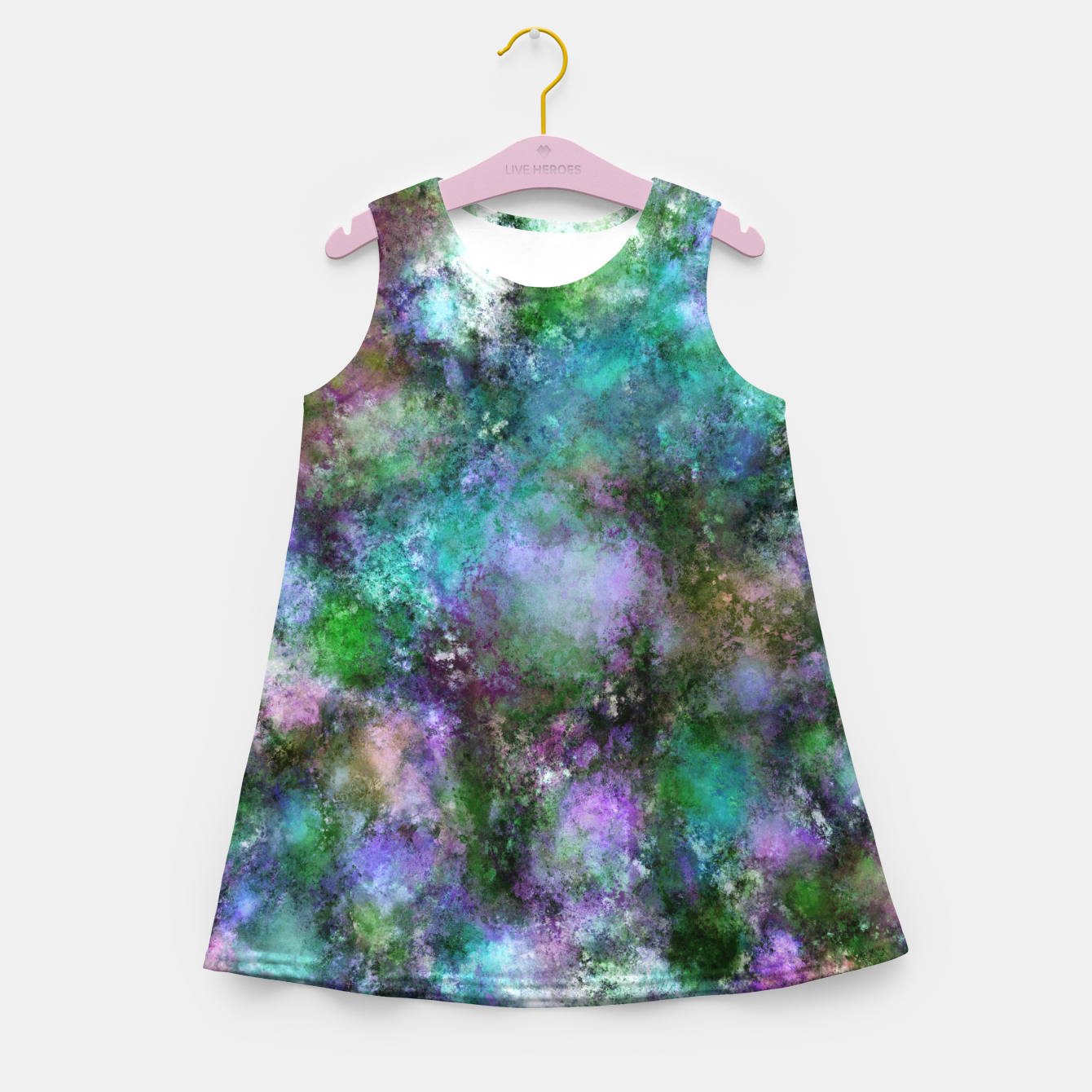 Image of A fluid situation Girl's summer dress - Live Heroes