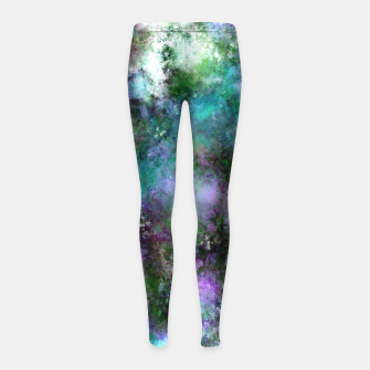 Thumbnail image of A fluid situation Girl's leggings, Live Heroes