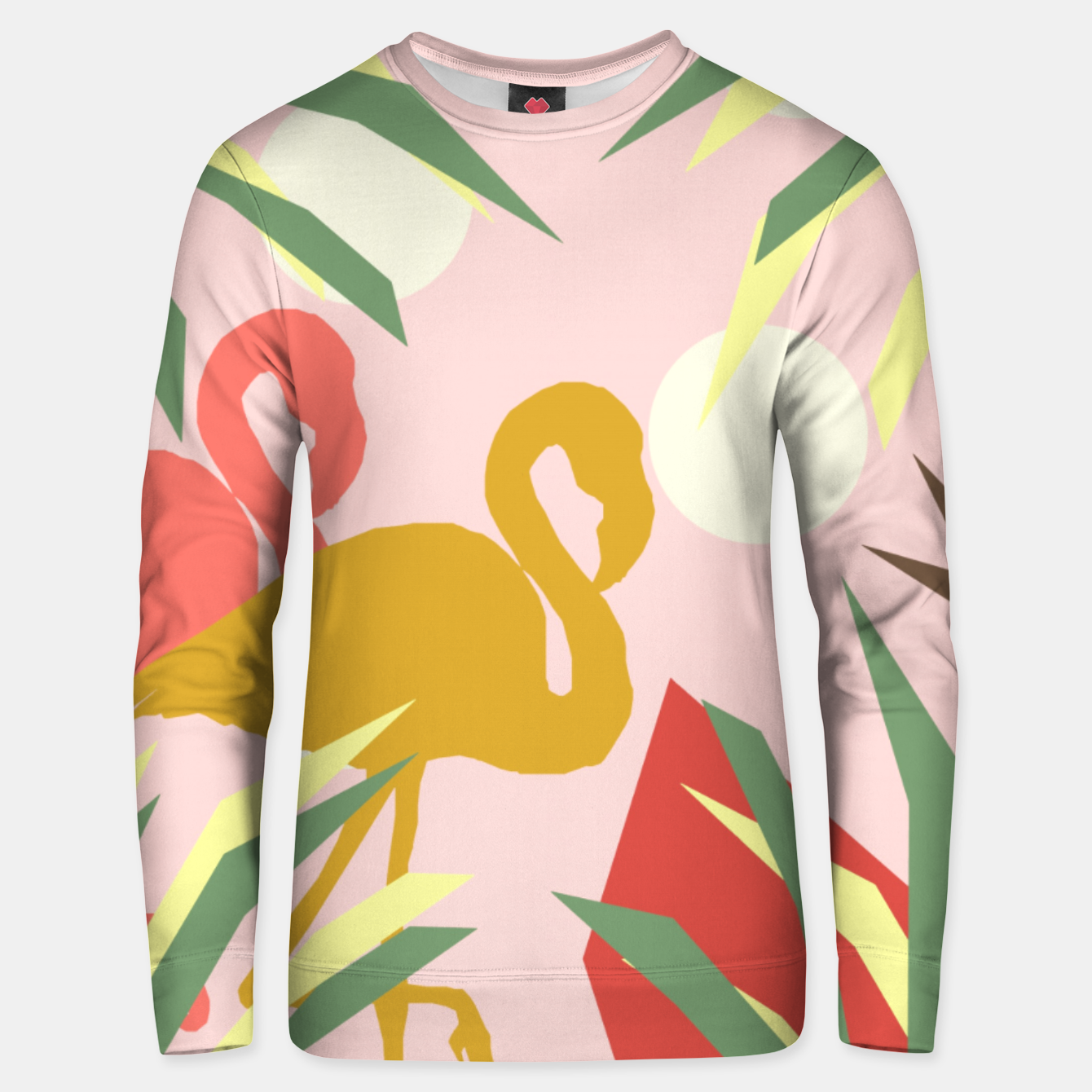 Image of Flamingo jungle pink Unisex sweater - Live Heroes