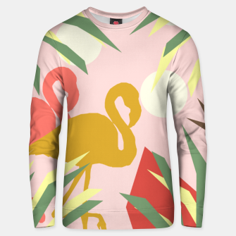 Thumbnail image of Flamingo jungle pink Unisex sweater, Live Heroes