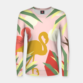 Thumbnail image of Flamingo jungle pink Women sweater, Live Heroes