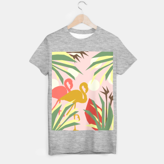 Thumbnail image of Flamingo jungle pink T-shirt regular, Live Heroes