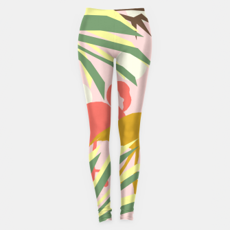 Thumbnail image of Flamingo jungle pink Leggings, Live Heroes